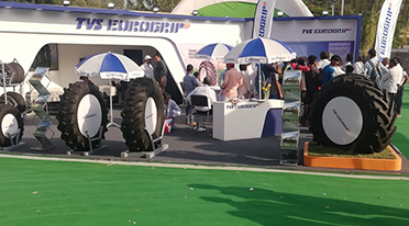 TVS Tyres showcases TVS Eurogrip off-highway tyres at Krishi Darshan Expo 2018