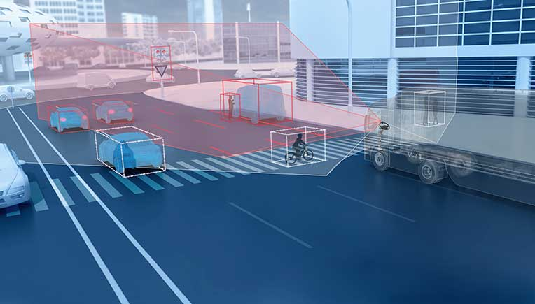 ZF develops Dual Lens Camera for commercial vehicle