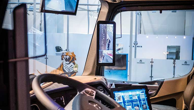 Mekra revolutionises trucks ergonomics