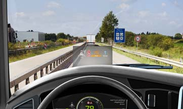 Continental brings the Head-Up Display to commercial vehicles