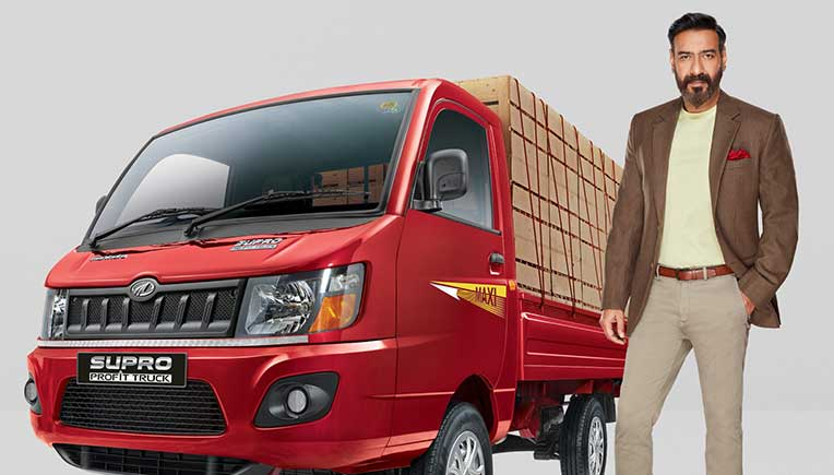 Bollywood actor Ajay Devgn is face of Mahindra Supro Profit truck brand