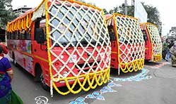 VECV delivers 50 Eicher CNG air-conditioned buses to PMPML for central Pune