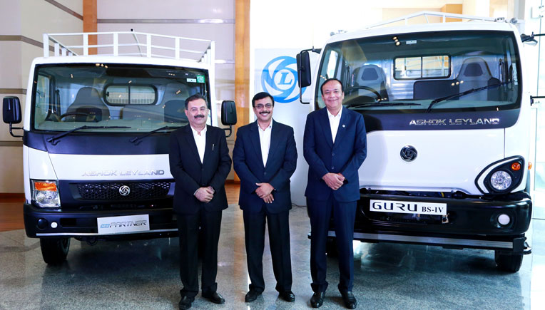 (L to R) Nitin Seth, President – Light Commercial Vehicles, Vinod K. Dasari, MD and CEO and Anuj Kathuria, President – Global Trucks