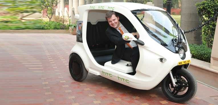 Sweden's smart electric 3-wheeler Zbee starts off its first ride in India