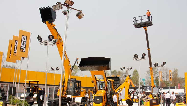 JCB products on display