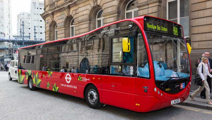 An electric Optare bus; For representation purpose only