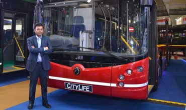 JBM Auto launches 'Citylife' diesel bus at Auto Expo