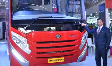 MG Group unveils 'Made in India' tarmac coach 'Columbus' for aviation industry