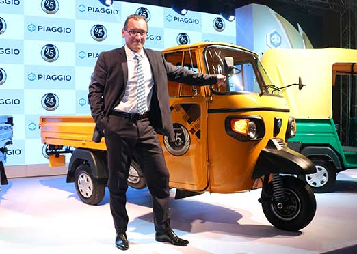 Piaggio rolls out its 2.5 millionth small commercial vehicle in India