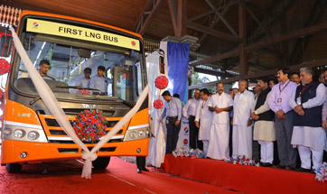 Tata Motors unveils India's first LNG bus