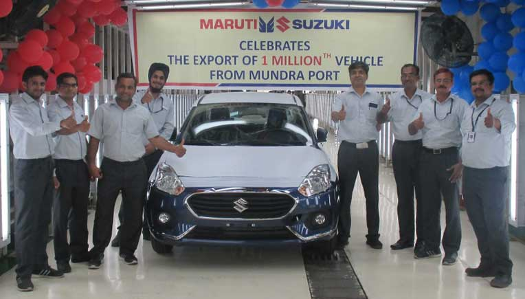 1 millionth Maruti Suzuki car exported from Gujarat's Mundra Port