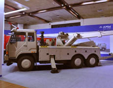 AMW displays military vehicles at Defence Expo '12