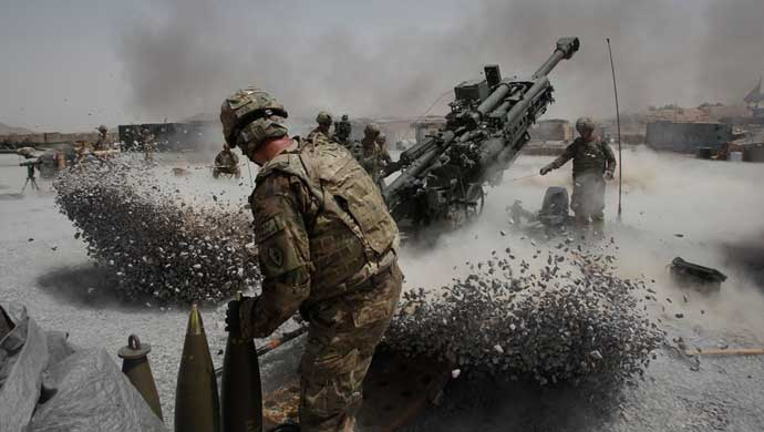 The 155mm artillery munition is typically fired from BAE Systems' M777 howitzer.