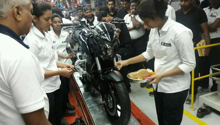 Bajaj Auto has commenced the production of its biggest and most powerful 400cc bike.