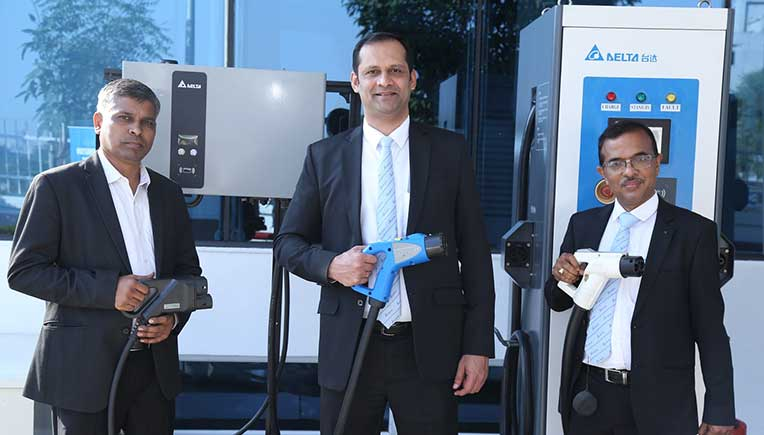 Delta Electronics India team at the launch of E-Mobility Tech Experience Centre to accelerate faster adoption of Electric Vehicles in India