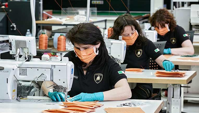 Automobili Lamborghini produces surgical masks, medical shields
