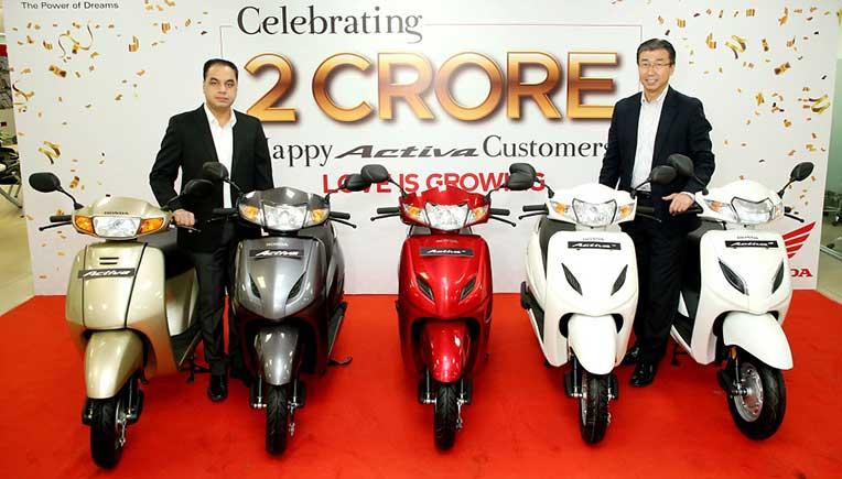 Honda Activa achieves a milestone of 2 crore unit sales in India