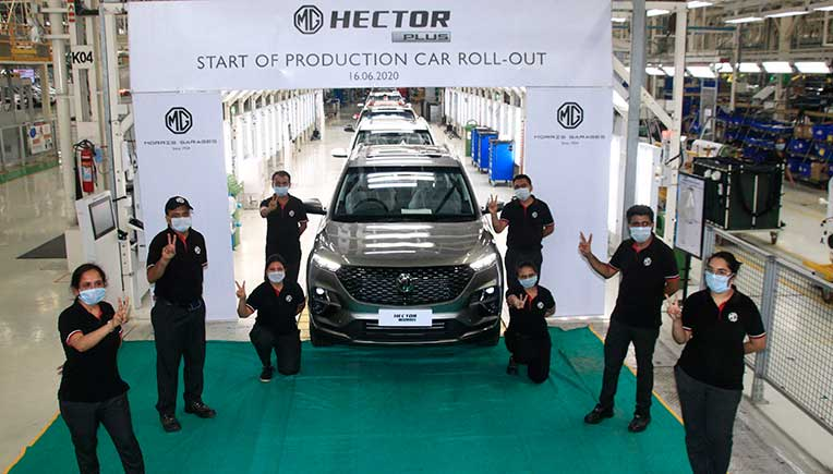 MG Motor India commences production of Hector Plus