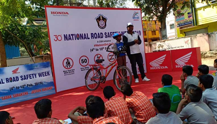 Honda 2Wheelers kick-starts National Road Safety Week 2019