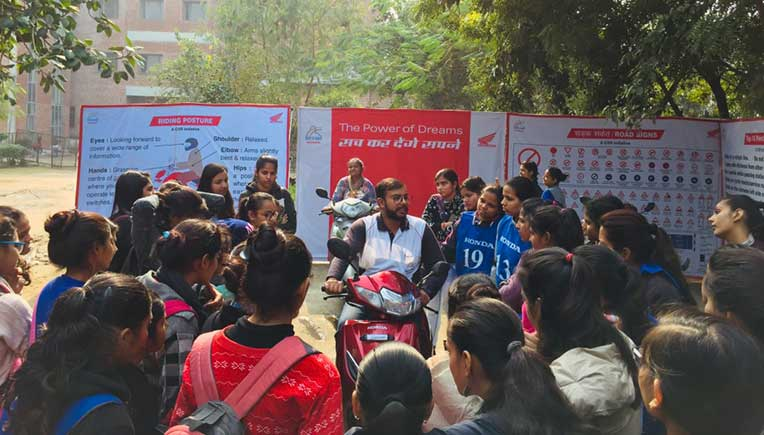 Honda's National Road Safety Awareness Campaign for college students reaches Delhi