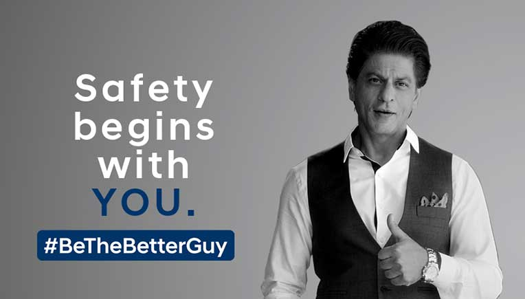 Hyundai brand ambassador Shah Rukh Khan in the company's road safety message