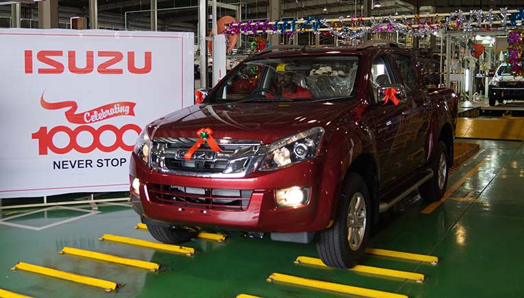 Isuzu Motors India rolled out the 10,000th vehicle from its factory located in SriCity, Andhra Pradesh.