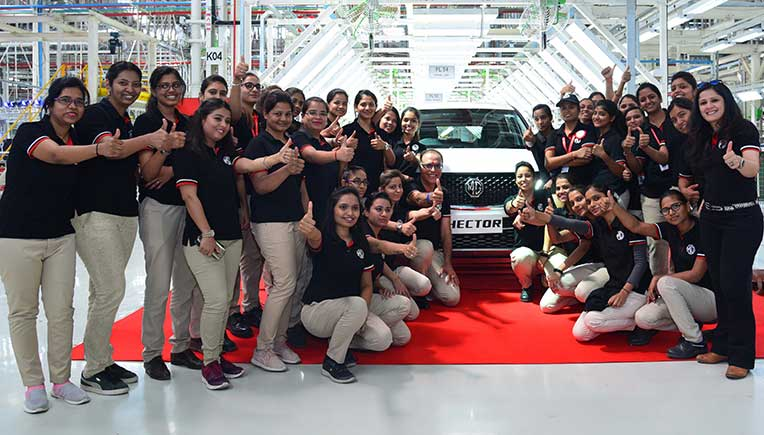 MG Motor India commences commercial production of Hector from Gujarat