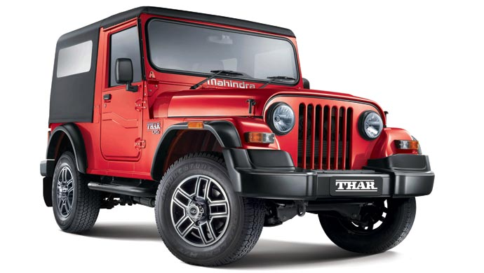 Mahindra Thar; For representation purpose only