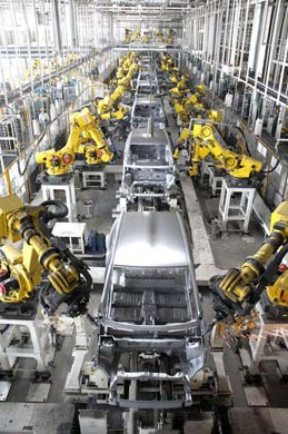 A picture of Maruti plant; For representation only