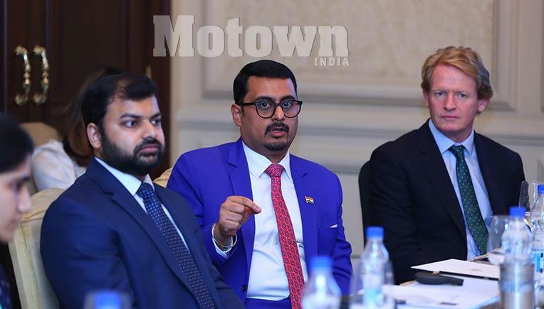 R-L Jon Moore, CEO, Bloomberg NEF, Ashish Sethia, Head of Research, Asia Pacific and Shantanu Jaiswal, Head of India Research, Bloomberg NEF