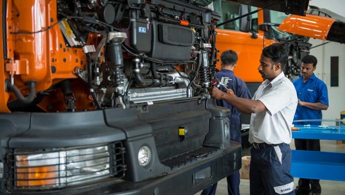 Scania has a plant in Karnataka