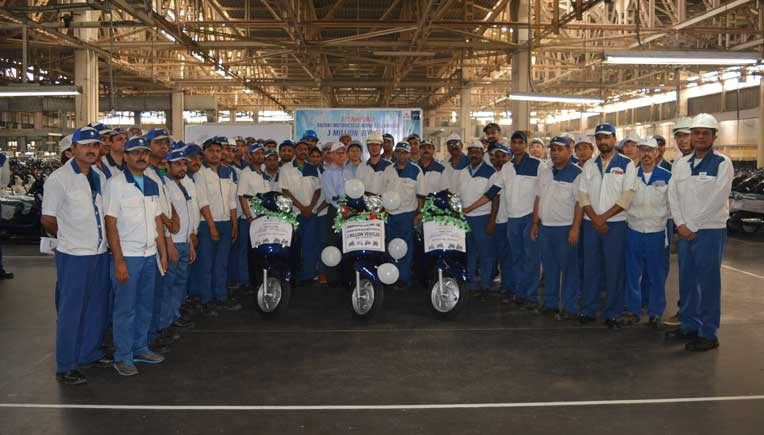 Suzuki Motorcycle India team