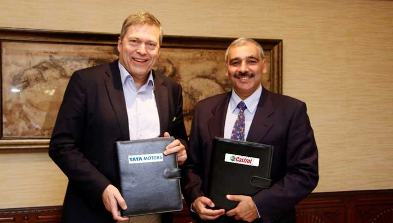 Guenter Butschek – CEO and Managing Director, Tata Motors Limited and Mandhir Singh, CEO, BP Lubricants