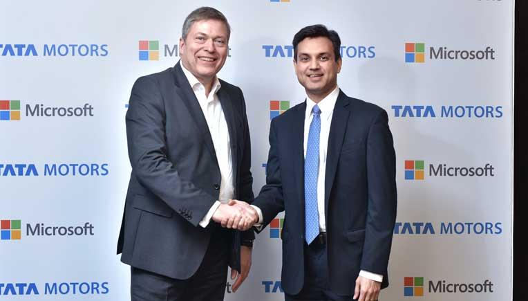 Guenter Butschek, CEO & MD, Tata Motors with Anant Maheshwari, President, Microsoft India
