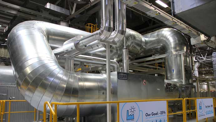 Heat Recovery Unit at Volkswagen Pune Plant