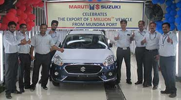 1 millionth Maruti Suzuki car exported from Gujarat's Mundra Port