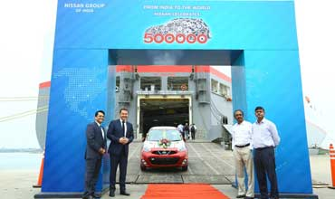 500,000th India made Nissan car exported