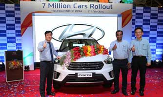 7 millionth car rolls out of Hyundai Motor India plant in Chennai