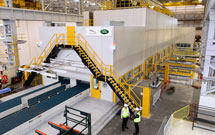 A 7,900 tonne stamping machine at JLR plant in UK
