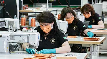 Automobili Lamborghini produces surgical masks, medical shields