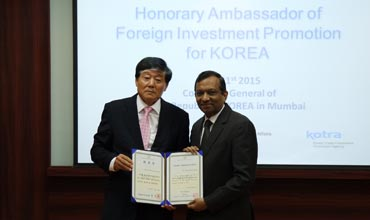 Dr Pawan Goenka is envoy of Foreign Investment Promotion for Korea