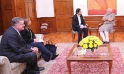 GM chairman Tim Solso, CEO Mary Barra meet Modi