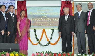 Gujarat CM lays foundation stone for Suzuki plant