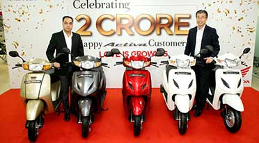 Honda Activa achieves a milestone of 2 crore unit sales in India