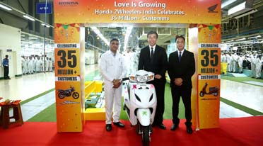 Honda Motorcycle & Scooter India production cross 35 million mark