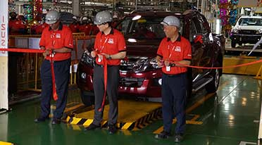 Isuzu Motors India rolls out 10,000th vehicle from SriCity plant