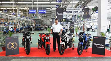 Motorcycle brand TVS Apache crosses 3 million sales milestone