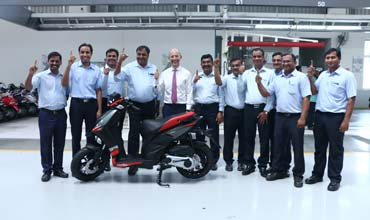 Piaggio India kicks off production of the all new Aprilia SR 150