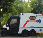 Polaris off- road ambulance for Indian terrains