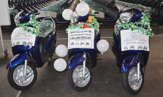 Suzuki Motorcycle India rolls out 3 millionth vehicle